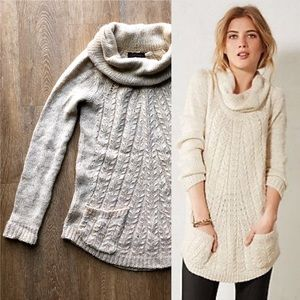 Guinevere Cable Cowl Neck Sweater